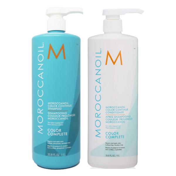 Moroccanoil Color Complete Champú 1000ml + Acondicionador 1000ml