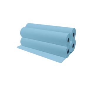 Rollos De Papel Camilla 70 Metros Aproximadamente Color Azul x4