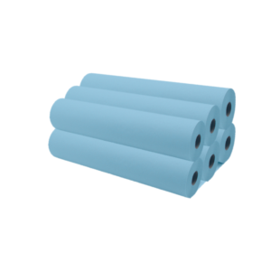Rollos De Papel Camilla 70 Metros Aproximadamente Color Azul x6
