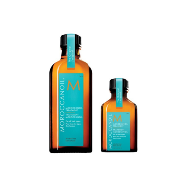 Moroccanoil Caja de Cilindro Tratamiento Para Todo Tipo De Cabello Aceite 100ml + Aceite 25ml