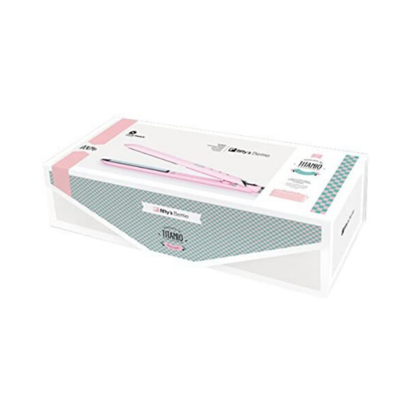 Perfect Beauty Fifty's Bettie Plancha De Pelo Profesional De Titanio Espejo Color Rosa