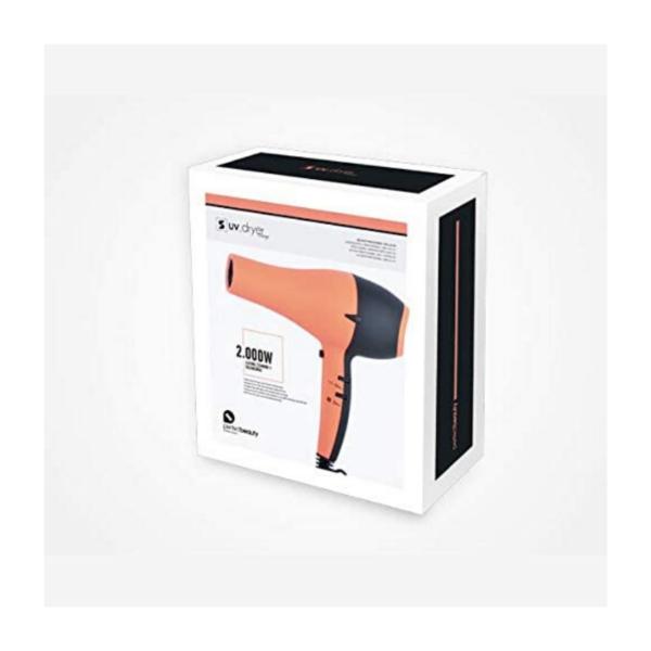 Perfect Beauty Secador De Pelo Uv Dryer Con Luz Ultravioleta 2200w Profesional Color Naranja