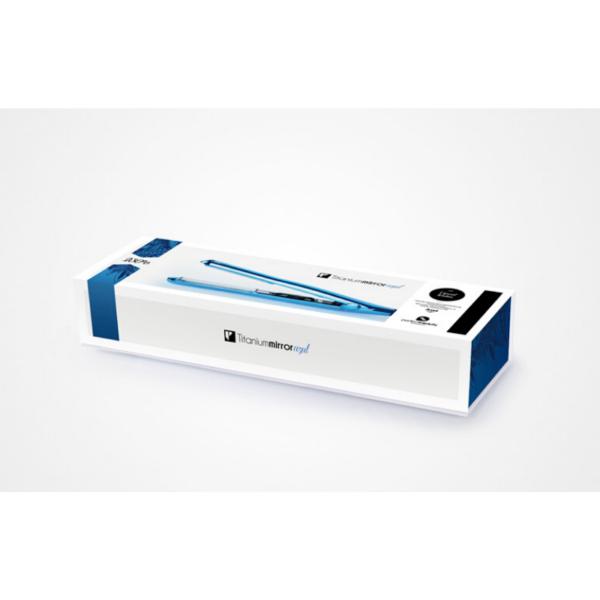 Perfect Beauty Titanium Mirror Plancha Cabello Profesional Titanio Control Temperatura 230 ºc Máx. Color Azul