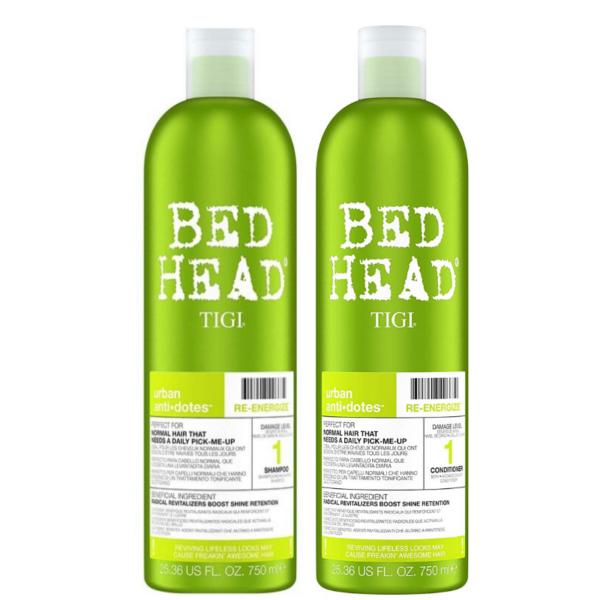 Tigi Bed Head Urban Anti+Dotes Level 1 Re-Energize Champú 750ml + Acondicionador 750ml