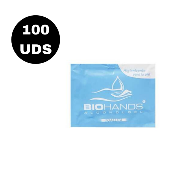 Biohands Alcohol Gel Toallitas 100 Unidades