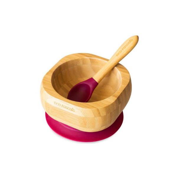 Eco Rascals Cuenco + Cuchara de Bambú
