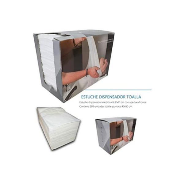 Toallas Desechable Con Dispensador Spunlace Blancas 40x80cms 200unidades
