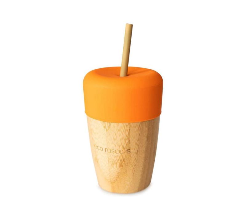 Eco Rascals Taza de bambú Naranja 240ml